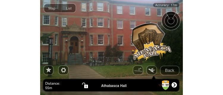 campus mysteries - tour with AR overlay