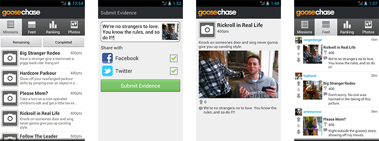 goosechase - treasure and scavenger hunt creator