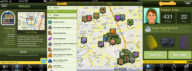 gowalla - foursquare-like location-based app