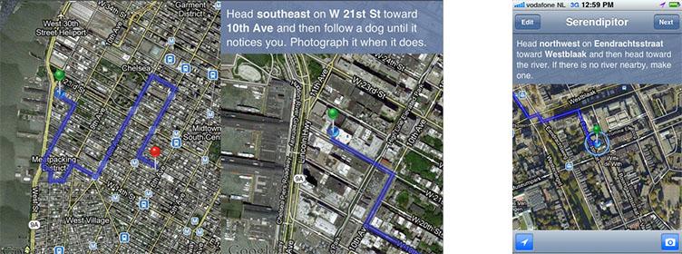 serendipitor - arty GPS navigator