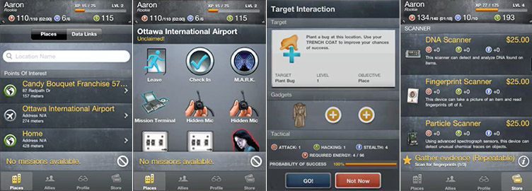 spy am i - part spy game, part checkin app