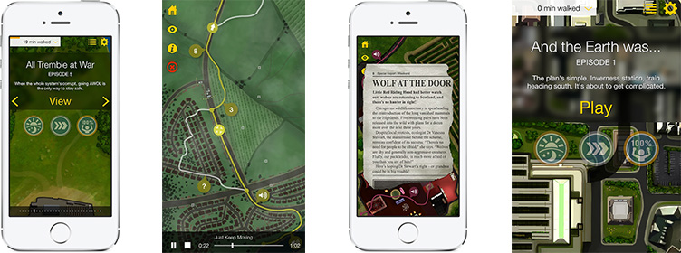 thewalk - walking app with narrative