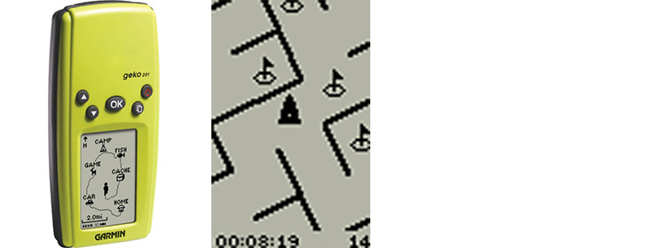 old GPS maze game